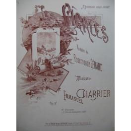 CHABRIER Emmanuel Les Cigales Chant Piano ca1890