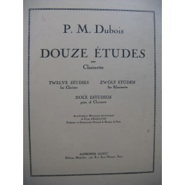 DUBOIS Pierre Max Douze Études Clarinette