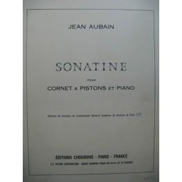 AUBAIN Jean Sonatine Cornet à Pistons Piano 1971