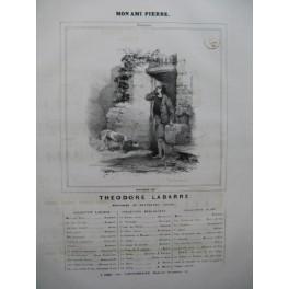 LABARRE Théodore Mon ami Pierre Chant Piano ca1830