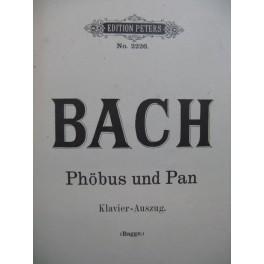BACH J. S. Phöbus und Pan Chant Piano