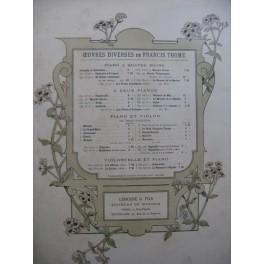 THOMÉ Francis Rapsodie Violon Piano ca1890