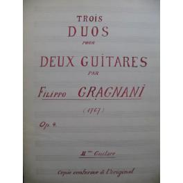 GRAGNANI Filippo Trois Duos op 4 pour 2 Guitares