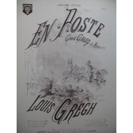 GREGH Louis En Poste Piano XIXe