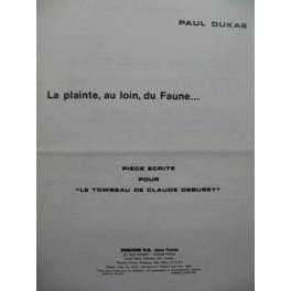 DUKAS Paul La Plainte au loin du Faune Piano 1972
