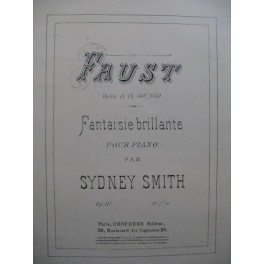 SMITH Sydney Faust Piano XIXe siècle
