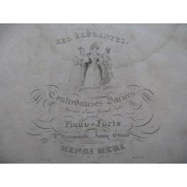 HERZ Henri Les Élégantes Piano ca1850