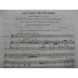 CARAFA Michele Le Valet de Chambre Opéra No 2 Duo Chant Piano ou Harpe ca1820
