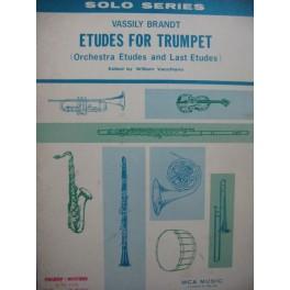 BRANDT Vassily Etudes for Trumpet Trompette
