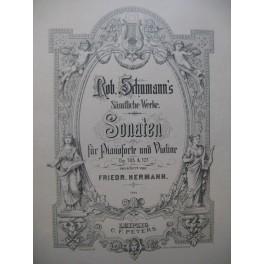 SCHUMANN Robert Sonaten für Pianoforte und Violine Piano Violon