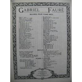 FAURE Gabriel Thème et Variations Piano 1964