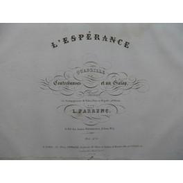 FARRENC L. L'Espérance Piano ca 1840