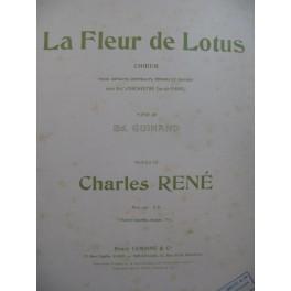 RENÉ Charles La Fleur de Lotus Chant Piano 1925