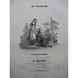 MASINI F. Le Nom de Soeur Chant Piano ca1840