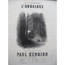 HENRION Paul L'Andaloux Chant Piano ca1851