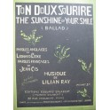 RAY Lilian Ton Doux Sourire Chant Piano ca1913