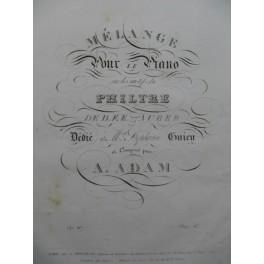ADAM A. Mélange Piano ca 1835