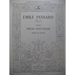 PESSARD Emile 20 Pièces Nouvelles Piano 1885