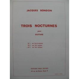 BONDON Jacques Nocturne No 3 Guitare 1972