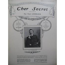 LOMBARD Paul Cher Secret Piano 1908