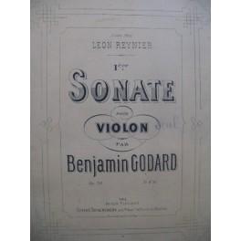 GODARD Benjamin Sonate No 1 Dédicace Violon seul ca1880