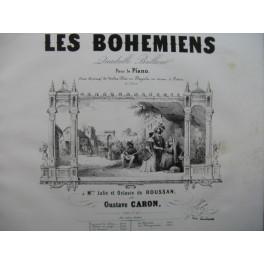 CARON Gustave Les Bohémiens Quadrille Piano Violon Flûte Cornet à pistons ca1850