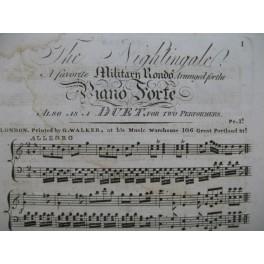 The Nightingale Military Rondo Piano 4 mains XIXe