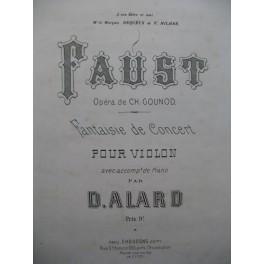ALARD Delphin Fantaisie sur Faust Gounod Violon Piano ca1880