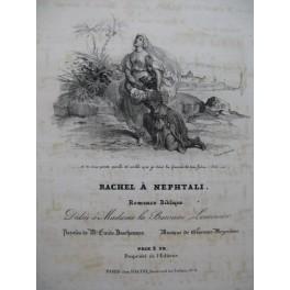 MEYERBEER G. Rachel à Nephtali Chant Piano ca1835