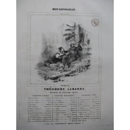 LABARRE Théodore Mon Espingnolle Chant Piano ca1840