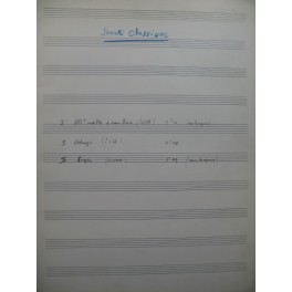 CHATRY Gaston Sonate pour 2 Guitares Manuscrit 1961