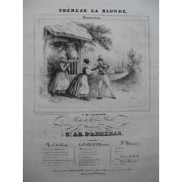 D'ADHÉMAR Ab. Thérèse la Blonde Chant Piano ca1840