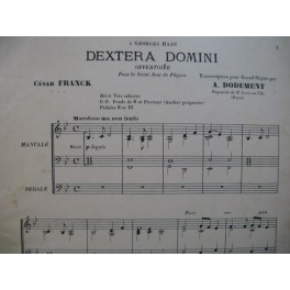 FRANCK César Dextera Domini Offertoire Orgue 1908
