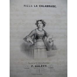 HALÉVY F. Nizza la Calabraise Chant Piano ca1840