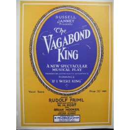 FRIML Rudolf The Vagabond King Chant Piano 1926