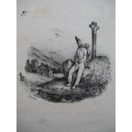DE BEAUPLAN Amédée Les Souvenirs du Pays Chant Guitare ca1830
