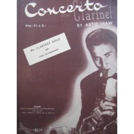 SHAW Artie Concerto for Clarinet Piano Clarinette 1946