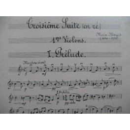 MARAIS Marin Troisième Suite pour Orchestre à Cordes