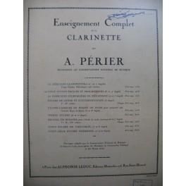 PERIER A. 20 Etudes Clarinette 1943