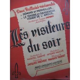 THIRIET Maurice Les Visiteurs du Soir 2 Ballades Chant Piano 1942