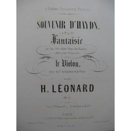 LEONARD H. Souvenir d'Haydn Fantaisie Violon Piano 1845