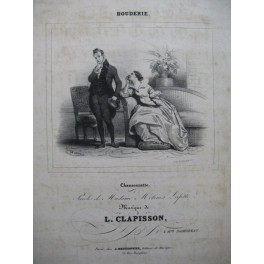 CLAPISSON Louis Bouderie Chant Piano 1830