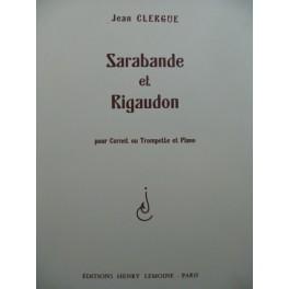 CLERGUE Jean Sarabande et Rigaudon Piano Cornet ou Trompette