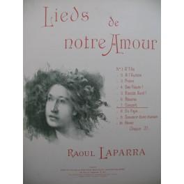 LAPARRA Raoul Concert Chant Piano