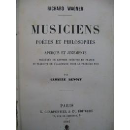 WAGNER Richard Musiciens Poètes et Philiosophes 1887