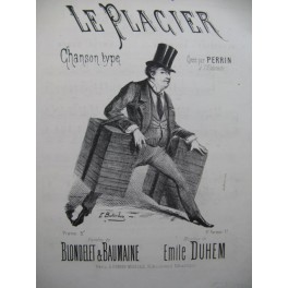 DUHEM Emile Le Placier Chant Piano XIXe