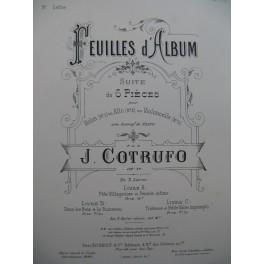 COTRUFO J. Feuilles d'Album Violon Piano 1888