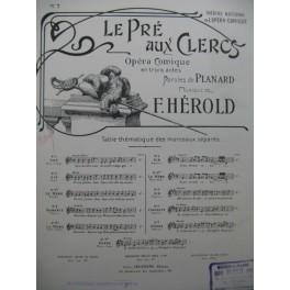 HEROLD Ferdinand Le Pré aux Clercs No 7 Chant Piano