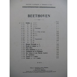 BEETHOVEN Sonate op 79 Piano 1927