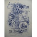 LECOCQ Charles Le Loup et l'Agneau Chant Piano XIXe